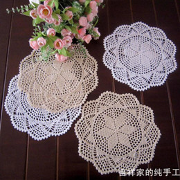 Wholesale Cotton Lace Coaster - Free shipping12pic lot 30cm round ZAKKA design 2014 new lace doilies coaster fashion flower round pad vase mat for dinning table