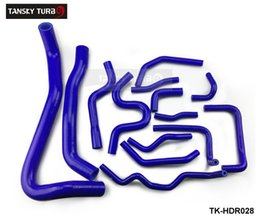 Wholesale Civic Radiator Hoses - Tansky - Heavyset 14 piece silicone hose kit for Honda Civic fn2 type R 2006-2010 Blue TK-HDR028