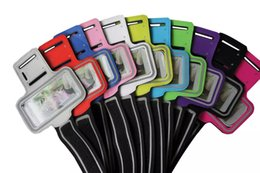 Wholesale galaxy s4 running case - 20pcs New for iphone6 WaterProof Sport Gym Running Armband Protector Belt Case Cover for iphone 6 4.7 inch Universal for Galaxy S3 S4