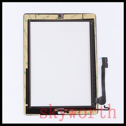Wholesale ipad2 home button - for iPad 2 3 4 mini Touch Screen Glass Panel with Digitizer home Button Adhesive Black and White