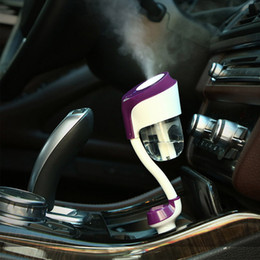 Wholesale 12v Car Air Freshener - Wholesale- nanum II Car charger Car air freshener Humidifiers ii 12V High Quality Nebulizer Humidifier Mute Home Air Sterilization