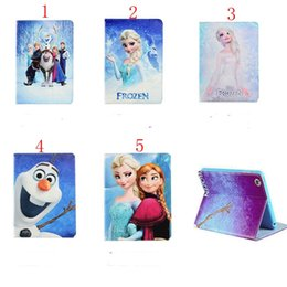 Wholesale 3d China Tablet - 3D Movie Frozen Series Design Folio Standing PU leather Tablet Cover Case For samsung tab 4 8.0 inch t330 t331 Free Shipping