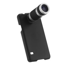 Wholesale Galaxy Lens Kit - Wholesale-Mobile Phone Lens Zoom Phone Telescope Camera Lens with Case Cover Kit for Samsung Galaxy S5 Photography Accessory