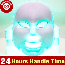 Wholesale Colour Therapy - Mini New Photon Therapy Colour Lights Skin Rejuvenation PDT Face Lifting Acne Wrinkle Remover Led Mask Beauty Device