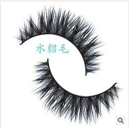 Atacado-D-7/1 par / 3D 100% handmade real cílios falsos tira 3D vison cílios grossos falso cílios falsos Maquiagem beleza de Fornecedores de pestanas de cabelo humano atacado