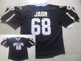 Wholesale Cheap Black Spandex - Wholesale Dallas nhl jerseys #68 Jaromir Jagr Minnesota North black Color Authentic Stitched mens ice hockey Jersey Cheap