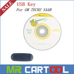 Wholesale Usb Key Tech2 - Best price GM TIS2000  SAAB TIS2000 CD And USB Key For GM TECH2 GM SAAB Car Model free shipping