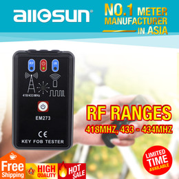 Wholesale Radio Analyzer - Allsun Portable Key Fob Tester Radio Frequency & Infrared Vehicular Remote Controller Wave Analyzer Tool EM273 Signal Receiver