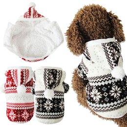 Wholesale Cheap Jumpsuits Free Shipping - Free Shipping Brand Soft Cotton Winter Warm Pet Clothes Cozy Snowflake Dog Teddy Hoodie Coat Cheap Pet Clothes Jumpsuit For Dogs