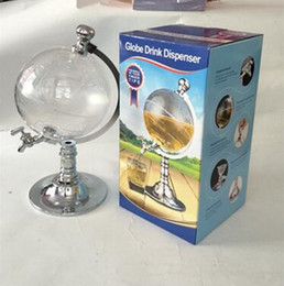 Wholesale Dispenser Beverage - Novelty Globe Shaped Beverage Liquor Dispenser Drink Wine Beer Pump Single Canister Pump Bar Tools CCA8001 12pcs