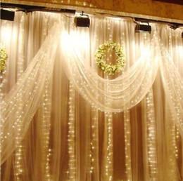 Canada Nouveau Noël Cuisine Rideaux Lumière 3 * 3M 300 LED Ultra Bright LED String Pour La Décoration de Vacances Blanc Chaud Blanc Avec Adaptateur cheap christmas kitchen curtains Offre
