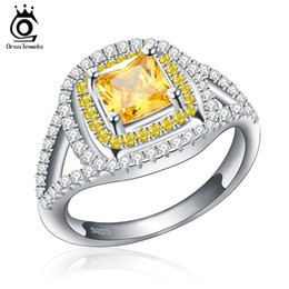 Wholesale Female Engagement Rings - ORSA 2017 Fashion New Women Engagement Austrian Zircon Ring Luxury Female Wedding Bride Jewelry Rings OR50