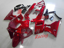Wholesale Kawasaki Zzr Red - Red Gloss Fairing Bodywork Plastic Kit Set Fit Kawasaki ZZR400 ZZR 1995-2003 001