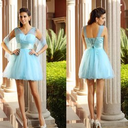 Wholesale Tulle Shawl Formal - 2015 bridesmaid dresses custom made Shawl V Neck backless Net Tull Beaded Sequins Charming hollow Formal dresses 4466