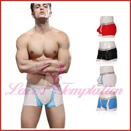 Wholesale Cotton Gauze Boxer - Wholesale-M-XXL gauze transparent male comfortable cotton panties sexy men underwear shorts men boxers gay man underwears 14007