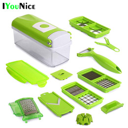 Wholesale Multifunctional Vegetable Fruit Peeler - 12 Pcs Multifunctional Shredder Fruit Vegetable Peeler Potatoes Slicer Dicer Chopper Cutter With Container Easy Kitchen Tools
