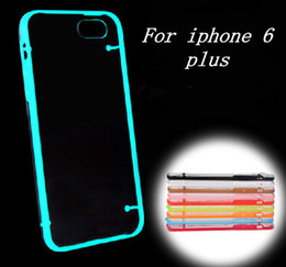 Wholesale Galaxy S4 Glowing Cases - Light Glow in the Dark Night Luminous Transparent Crystal Clear TPU Case For iPhone 4 5 5C 6 4.7 Plus 5.5 Samsung Galaxy S3 S4 S5 Note 2 3