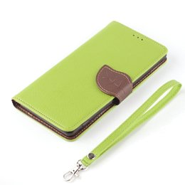 Wholesale Luxury Phone Cases Galaxy S4 - Wholesale-Luxury PU Leather Flip Stand Case For Samsung Galaxy S4 Mini i9190 i9192 i9195 Phone Shell Leaf Pouch Wallet Handbag+Lanyard