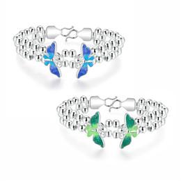 Wholesale Beautiful Cheap Bracelets - 925 sterling silver plated charm bracelet new fashion jewelry beautiful birthday gift temperament elegant style free shipping cheap hot