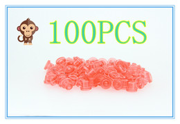 Wholesale Type Tattoos - 100PCS Soft Red Color T Type Tattoo Needle Pad Grommet For Needle Machine Supply Free Shipping