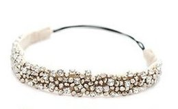 Wholesale Fashion Elastic Hair Bands - New Fashion Handmade Rhinestone Crystal Beaded Elastic Hair Band Hair Accessory Handmade Rhinestone Crystal Hair Band