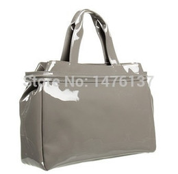 Wholesale Handbag Oil - Wholesale-evening bags New arrival women's handbag AJs bag shoulder bag japanned leather patent leather oil skin PU jelly handbag 808