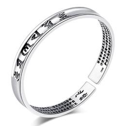 Wholesale Thai Silver Jewelry Wholesale - Sutra Namiwaka Paramita Bangles New Cheap Women Wedding White Gold Plating Bracelet Bangles 30% Sterling Thai Silver Heart Fine Jewelry