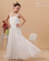 Wholesale Train Taffeta Flower Girl - Pageant Lace Beaded Flower Girl Dresses With A Train Embroidery Hot Sale 2015 New Girls Gown little girl's pageant dresses
