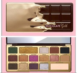 Wholesale Gold Palette - Newest faced Chocolate Gold Bar Metallic Matte 16 colors Eyeshadow Palette Makeup and High Quality Free Shipping