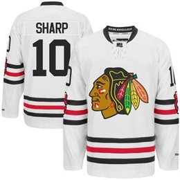Wholesale Sharp Collection - Hockey Jerseys Winter Classic Hockey Jerseys Blackhawks #10 Sharp Hockey Apparel Highest Quality Sports Wears New Collection for Sale