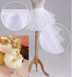Wholesale Girls Underskirt Kids - 2016 Children Petticoat Wedding Accessories 3 Layers Hoop Flower Girl Formal Dress Short Crinoline Kid Princess Underskirt