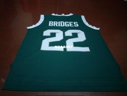 Wholesale Green Bridges - Vintage #22 MILES BRIDGES MICHIGAN STATE college jersey Size S-4XL or custom any name or number jersey