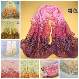 Wholesale Cowl Scarves - Selling Hot ! Fashion Leopard pattern Chiffon Shawl Wraps Cowl Scarf 160 X 50cm 4 Colors ab686