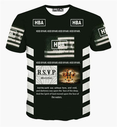 Wholesale Wholesale Hood T Shirts - Wholesale-New Arrival Number 69 t shirt Men Hood By Air t-shirt HBA Letter Print Hip hop tee T shirt camiseta masculina 3d hip hop Tshirt