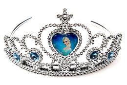 Wholesale Headband Pageant Crown - frozen crown tiara dress Elsa Anna princess crowns hearts diamond tiara baby girls party hair accessories pageant hairban