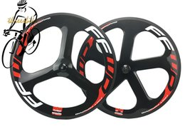 Wholesale Tri Spokes Carbon Wheelset - FAST Forward Tri Spoke and Five Spoke Carbon Bicycle Wheels Road Track Clincher Tubular Matte Glossy Finish Bike Cycling Wheelset OEM