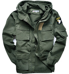 Wholesale Military Style Black Jacket Men - M65 Military style jackets for men pilot coat usa army 101 air force bomber outdoor jacket
