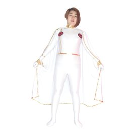 Vestiti sexy di lycra online-Spedizione gratuita X-men White Storm Woman Superhero Costume Halloween Party Cosplay Costumi sexy Catsuit Zentai Suit
