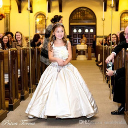 Wholesale Little Girls Pageant Dress Sale - Gorgeous Girl's Pageant Dresses Ivory Little Flower Girls' Dresses NINA TORNAI Beaded Birthday Bridal Party Gowns For Weddings Sale Cheap
