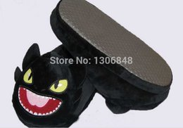 Wholesale Deadly Nadder Plush - Wholesale-How to Train Your Dragon Plush Slippers Toothless Night Fury Deadly Nadder Terrible Terror Gronckle Soft Stuffed House Shoes