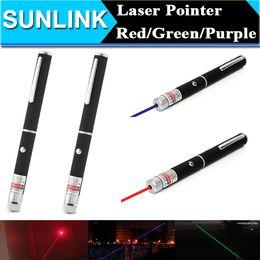 Wholesale Purple Laser Pen - Christmas Gift 532nm Green Red Blue Purple Light Laser Pen Beam Laser Pointer Pen For SOS Mounting Night Hunting Teaching 600pcs