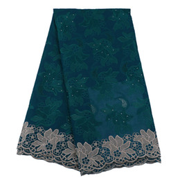 Wholesale Fabric Dryer - Promotion Swiss voile lace in Switzerland 2018 Nigerian Dry Cotton Fabric Embroidered and Stones African Dry lace fabric
