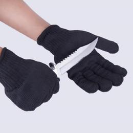 Антирежущие перчатки онлайн-1 пара Перчатки доказательство защита из нержавеющей стальной проволоки защитные перчатки отрезка металлической сетки Мясник анти-резки Бесплатная доставка