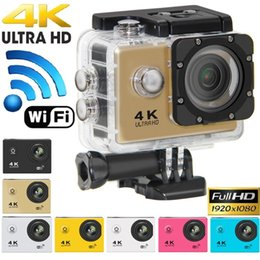 "Wholesale Sport Helmet Action Camera - 4K Ultra Hd Action camera F60 4K 30fps 1080P sport WiFi 2.0"" 170D Helmet Cam underwater waterproof Sport Camera With Retail Package"