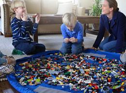 Canada Portable Enfants Jouet Sac De Stockage Et Tapis De Jeu Lego Jouets Organisateur Bin Boîte XL Mode Pratique Sacs De Stockage Offre