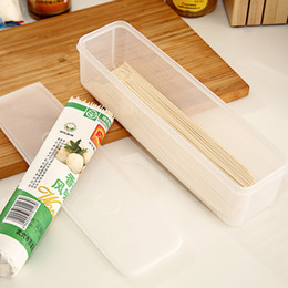 Wholesale Italy Covers - Wholesale- Noodles Seal Storage Box Multifunctional Italy Noodle Storage Box Chopstick Holder Kitchen Gadgets Rectangular