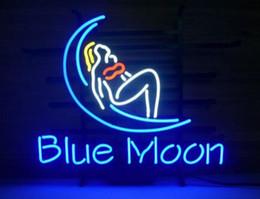 2019 enseignes au néon de bière de lune bleue Blue Moon Girl Neon signe Bière Bar Pub Magasin Disco Décoration Publicité Affichage Personnalisé Fait À La Main Verre Verre Néon Signes 16