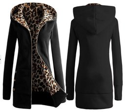 Wholesale Leopard Zip Up Coat - Sports Hoodies Women Hoodie Sweatshirt Women Hoodies Winter Coat Warm Zip Up Outerwear Sweatshirts Sport Suit Leopard