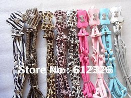 Wholesale Leather Harness Teddy - Wholesale-PU Soft Leather Dog Leashes Harness Set Lead Rhinestone For Small dogs Puppy Teddy