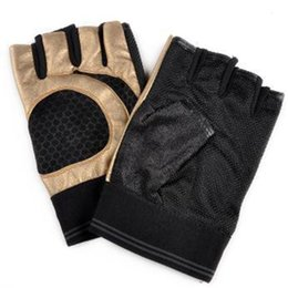 Wholesale Glove For Bodybuilding - Wholesale-2015 Fashion Sports Gym Gloves Anti-skid Exercise Weight Lifting Bodybuilding Gloves Fitness for Men & Women Guantes Gym, GL35